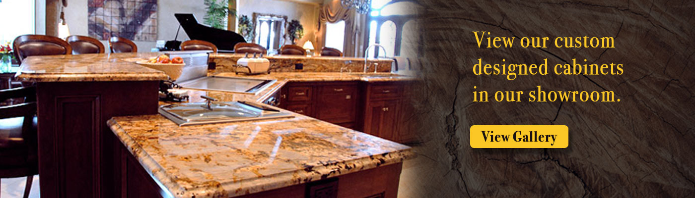View our custom designed cabinets in our showroom.